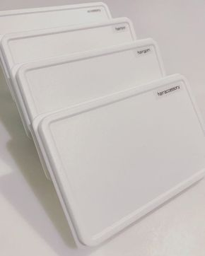無印のカードケースに細々したヘアゴムやヘアピン入れて洗面台の収納に