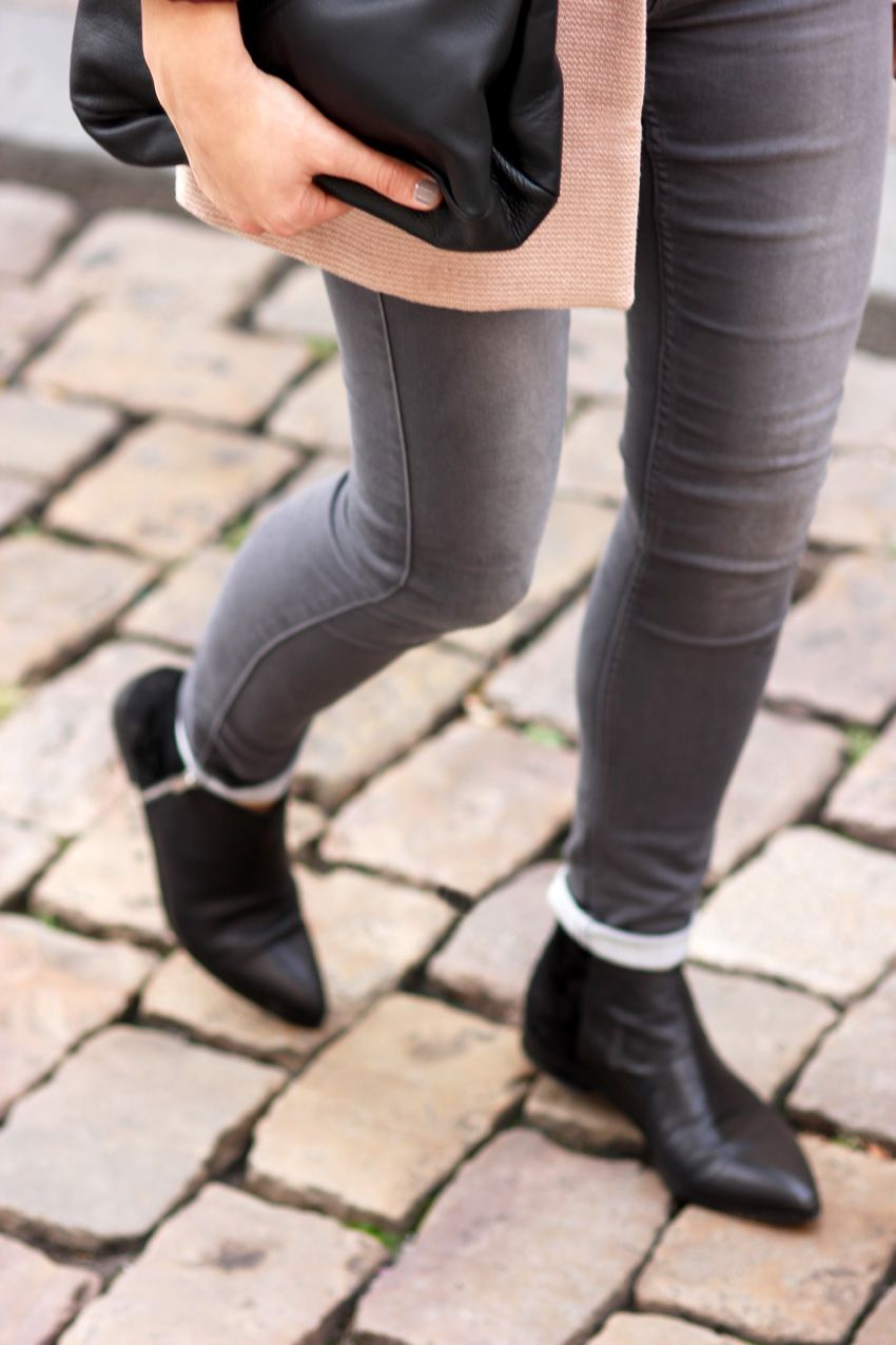 Sac Cuir Zara Bag Manteau Vero Moda Coat Over Size Black Leather Boots Streetstyle Fashion Blogger Blog Mode Fashion Bottines Pointues Mode Blog Mode