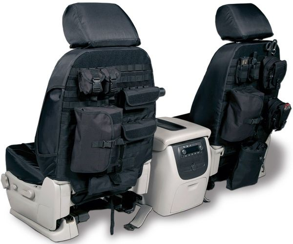 Molle seat covers~zombie apocalypse time.