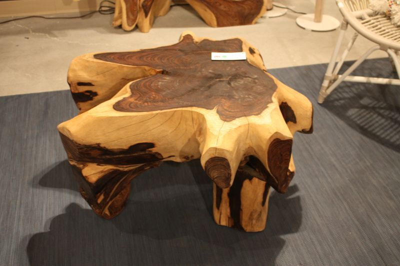 Wood Edge Slab Coffee Table