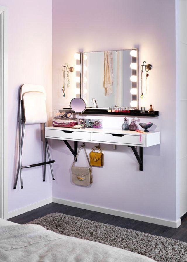 un miroir avec des led marie claire maison