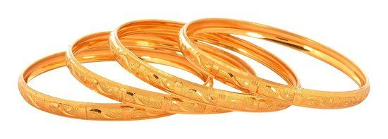 Waama Jewels Wear in Home Golden  Four Bangle Holiday Sale Bangle for Sister ( Size Inc. 2.6 ) - Waama Jewels Bangles & bracelet