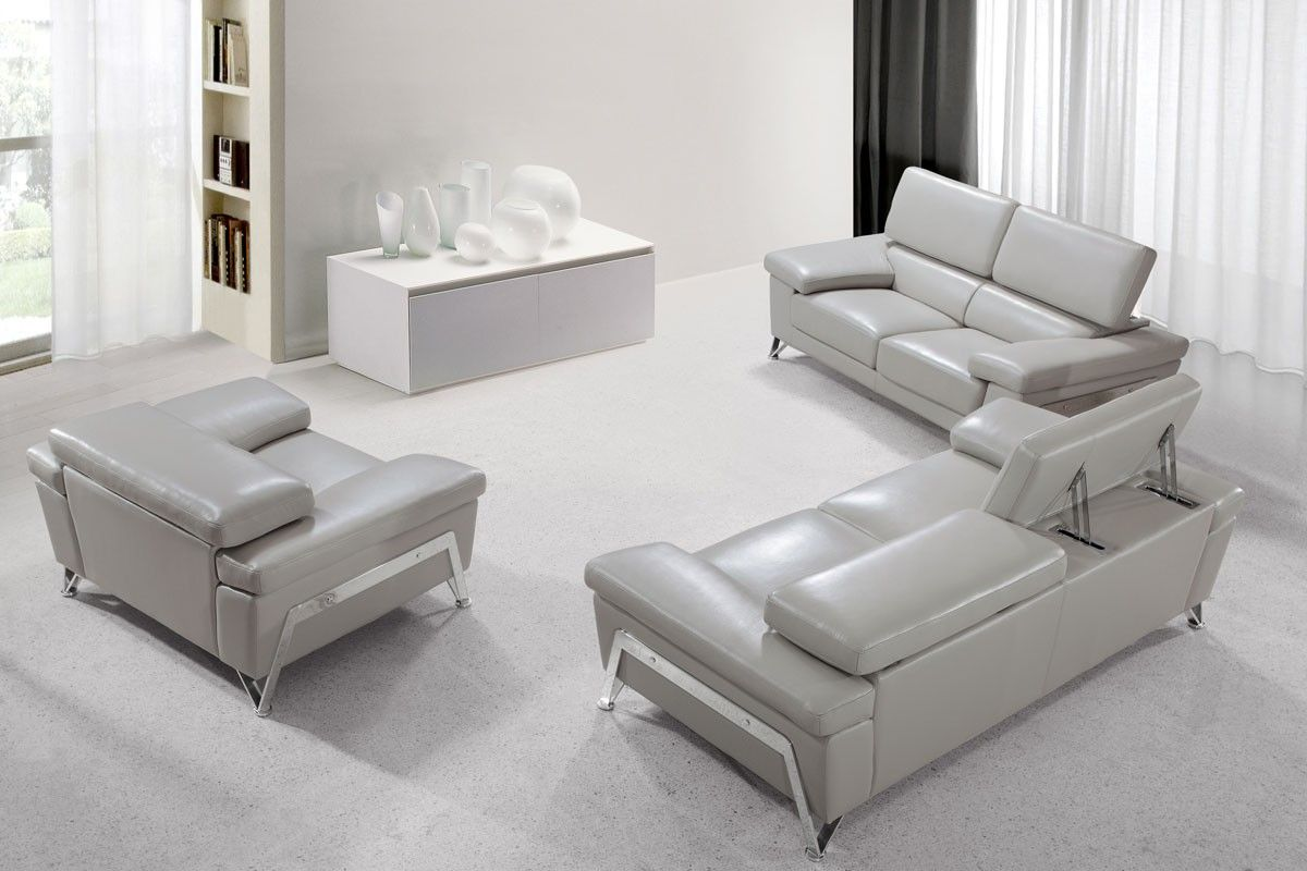 Nice Grey Leather Sofa Set Fancy 45 For Your Sofas And