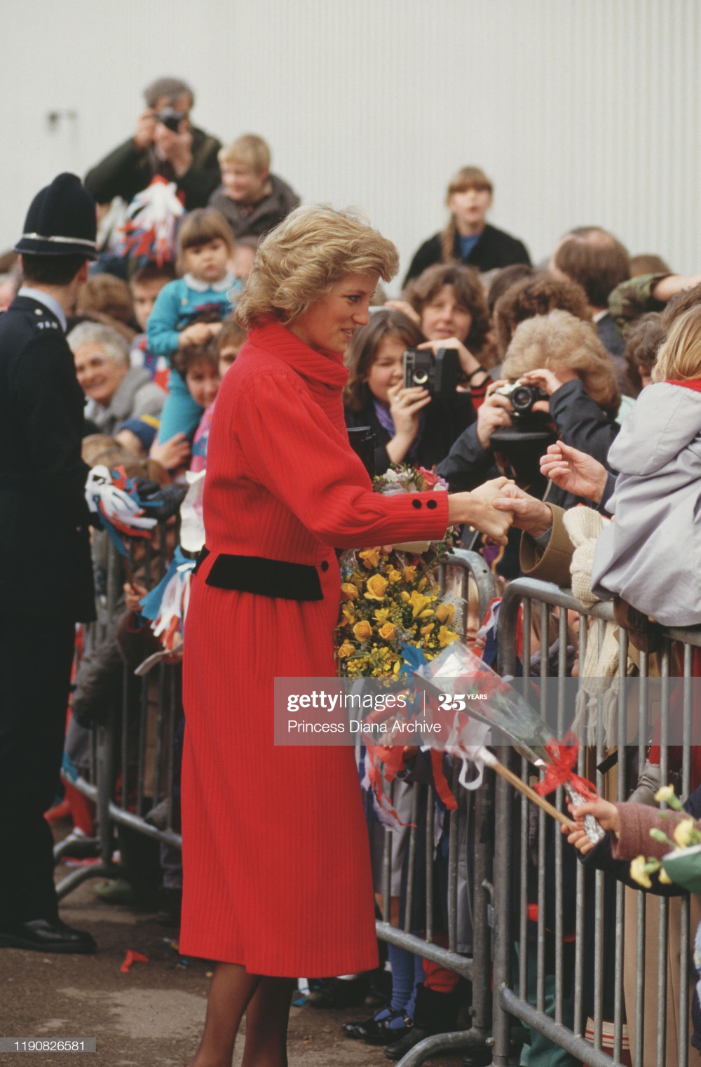 Diana, Princess of Wales meets members of the public in