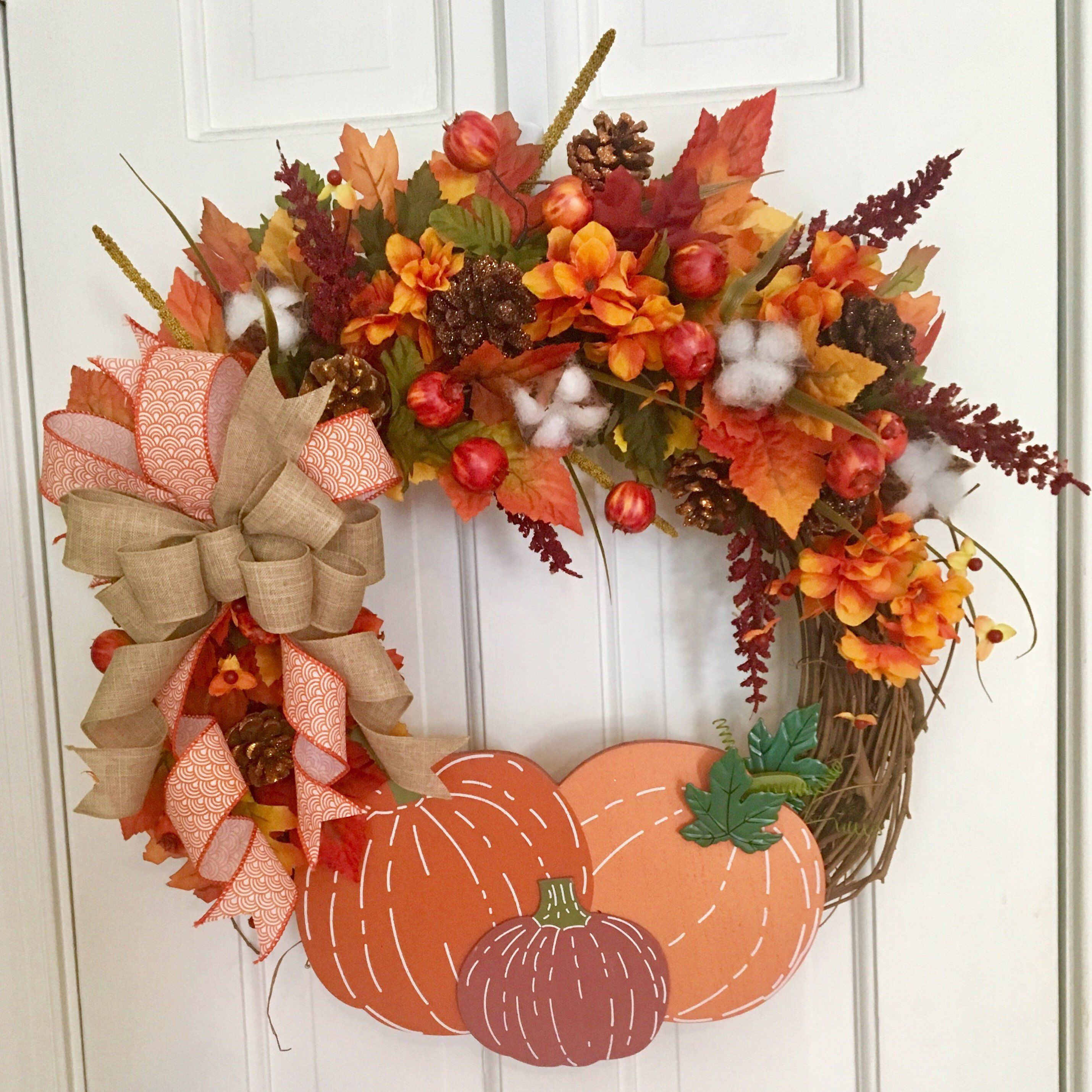 Pin by Connie Bacon on Fun etsy finds Fall wreaths, Diy