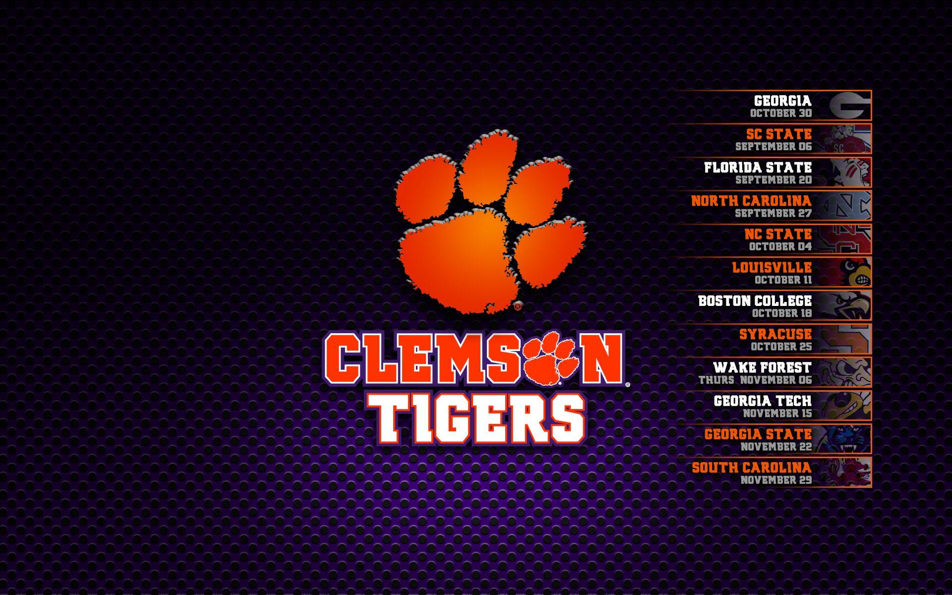 Clemson Tigers Football Schedule 2014 (4) Clemson
