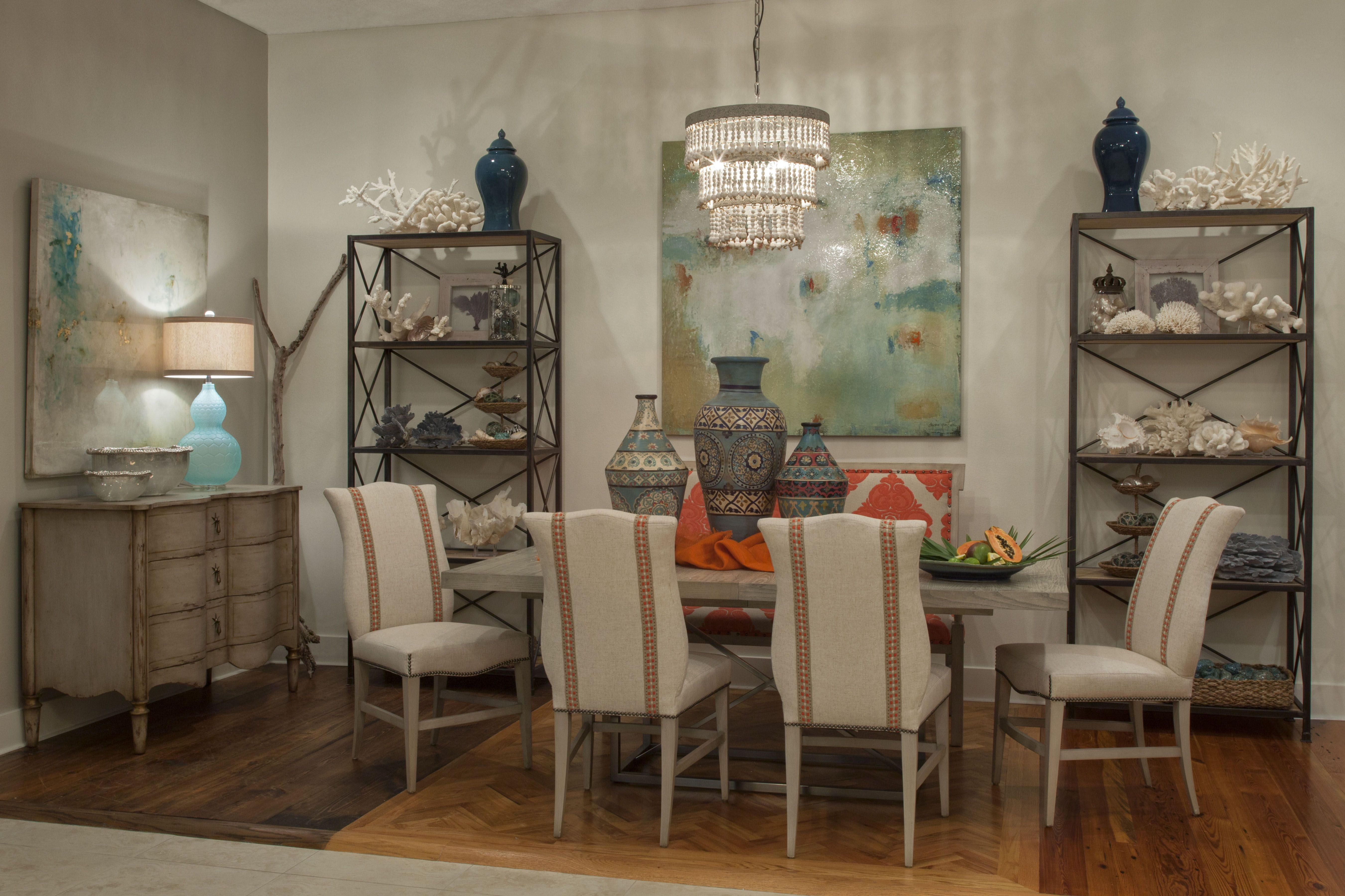 Coral Coastal Dining Room 30A Furniture Store | Interior Design Showroom |  Licensed Interior Designers | Santa Rosa Beach | Watercolor | WaterSound |  Alys ...