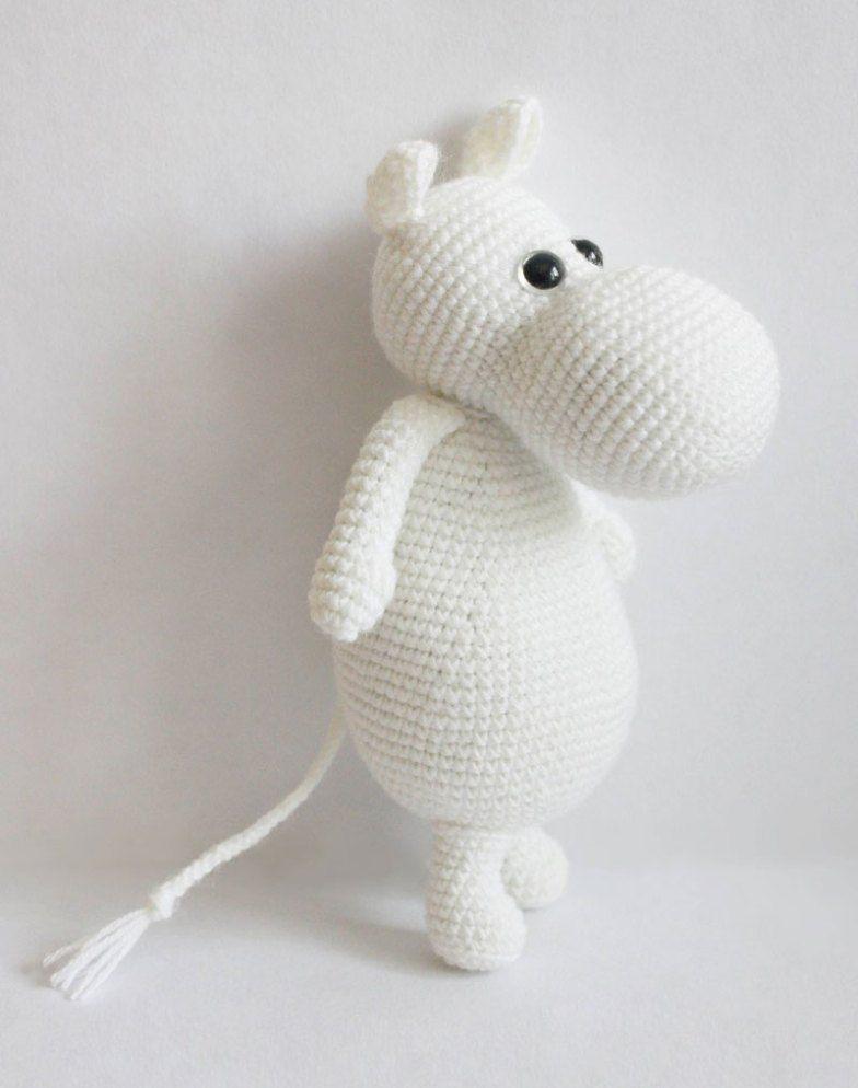 Amigurumi Moomintroll - free crochet pattern | knuffels | Pinterest