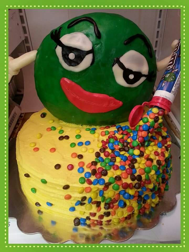 Green MM cake CakesbyStephanie my cake creations Pinterest