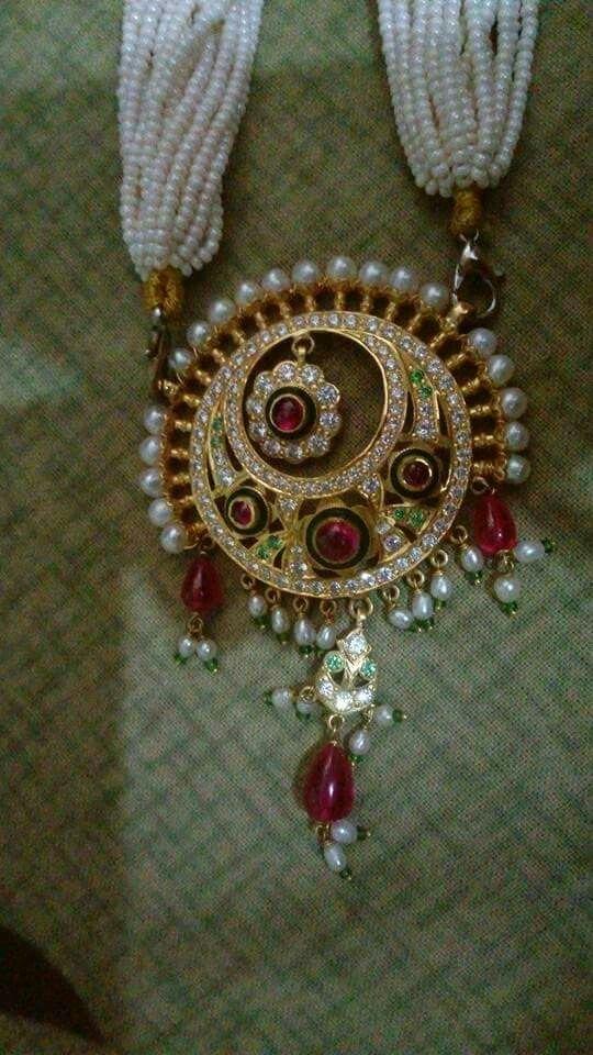 Rajputi jewellery pendent set by Kuldeep Singh   Royal rajputi ...