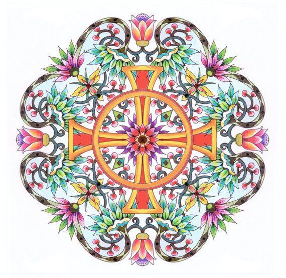 Items Similar To Christian Symbols Mandalas Adult Coloring BOOK On Etsy