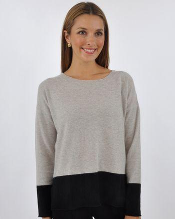 Colorblocked Crew Sweater