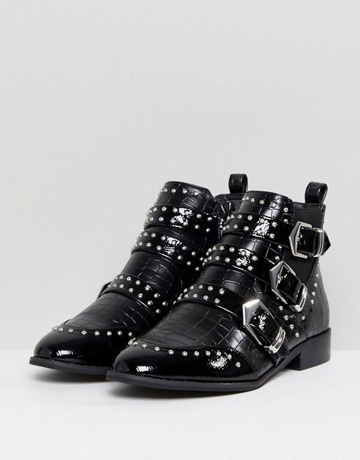 8e90a6cbb02da8 Discover Fashion Online Style Western, Western Boots, Buckle Boots, River  Island, Westerns