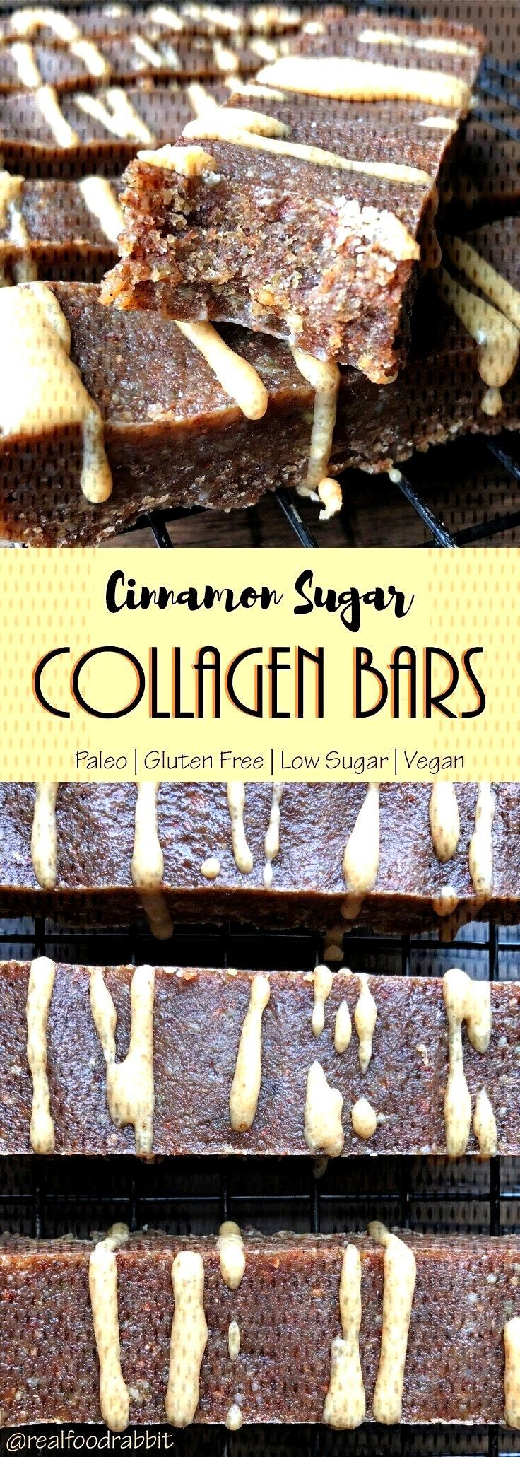 Cinnamon Sugar Collagen Bars | Paleo protein bars made with dry roasted almonds,... , Cinnamon Sug
