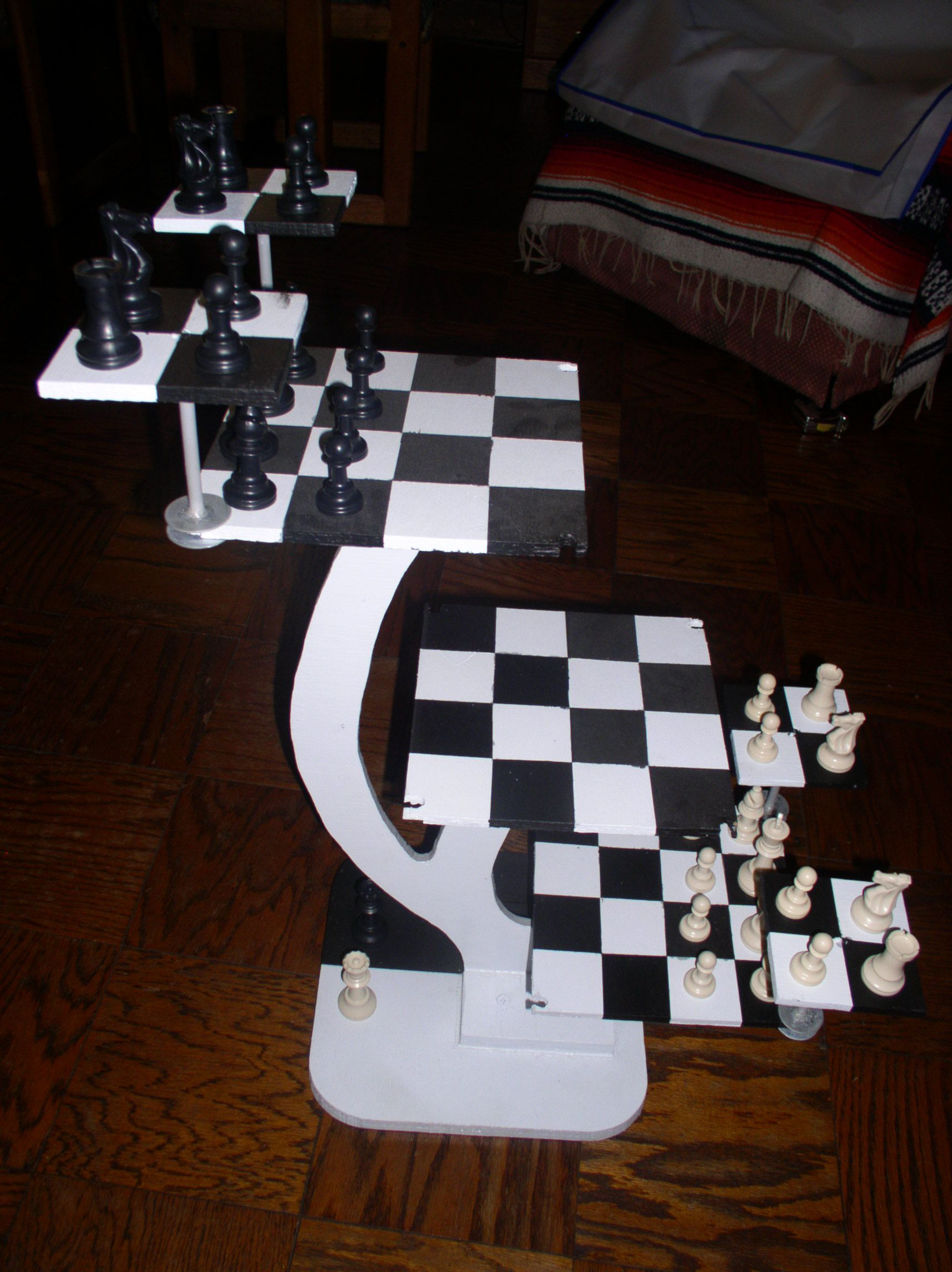 my 3d chess board i designed and built from star trek ready to rh pinterest com