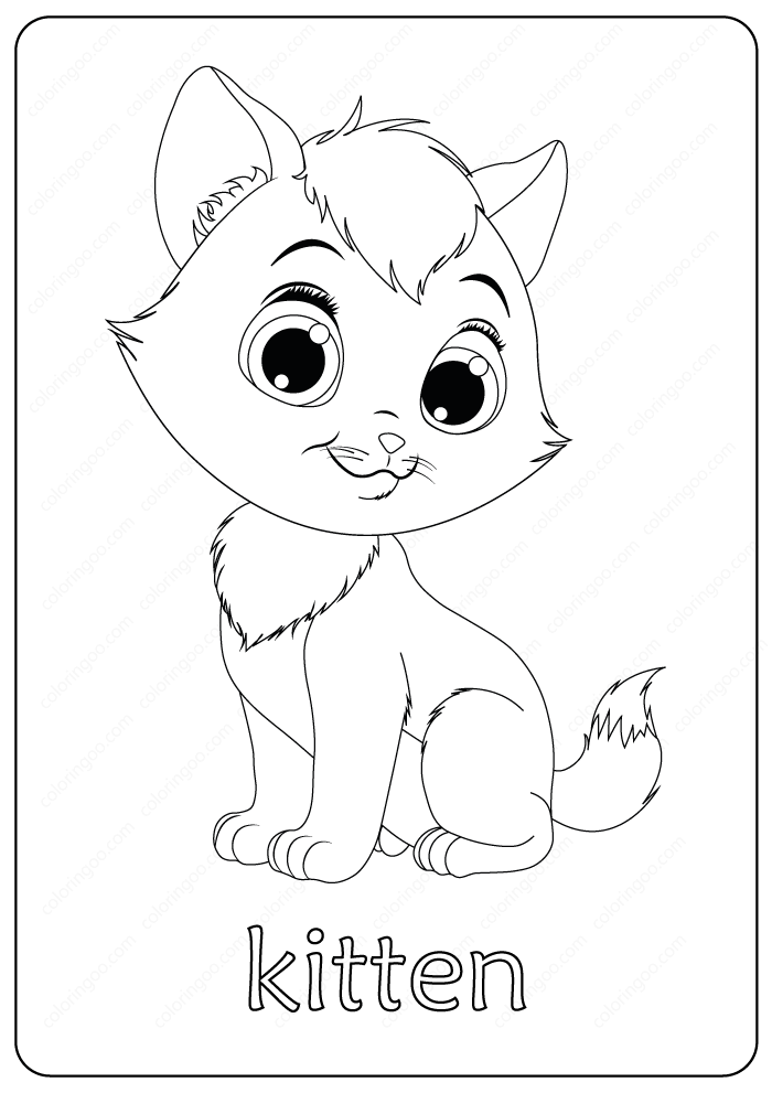 Printable Funny Fluffy Kitten Coloring Pages Fluffykittens Printable Funny Fluffy Kitten Coloring Pages Kittens Coloring Fluffy Kittens Cute Fluffy Kittens