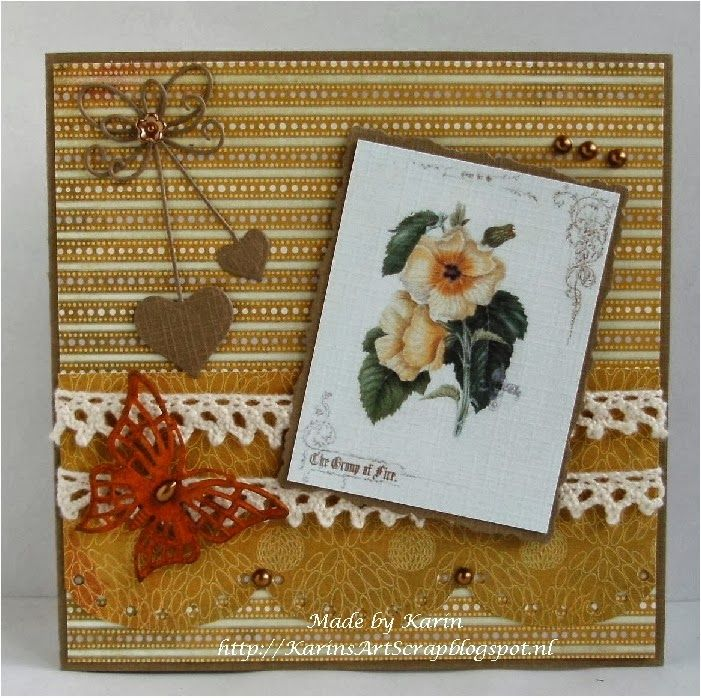 KarinsArtScrap: Flowers from Vitage Book