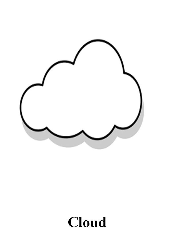 Cloud Coloring Pages Coloring Pages Coloring Pages For Kids Color