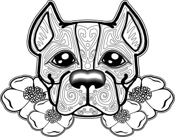 Stained Glass Pitbull Pattern