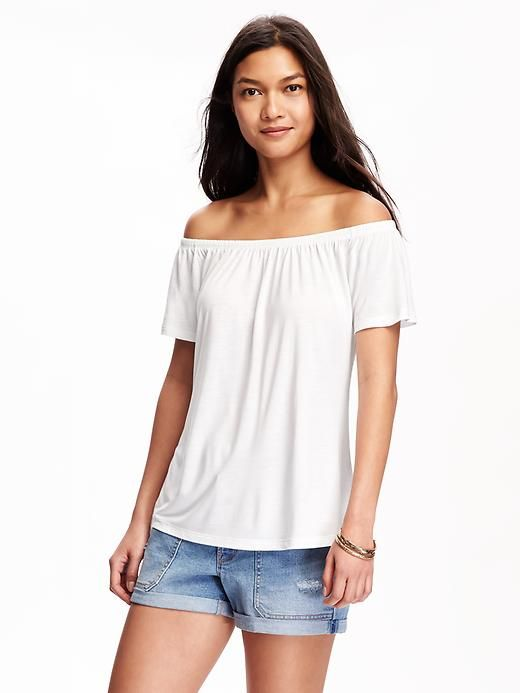 0e7b6a1a4 Relaxed Off-The-Shoulder Swing Tee for Women
