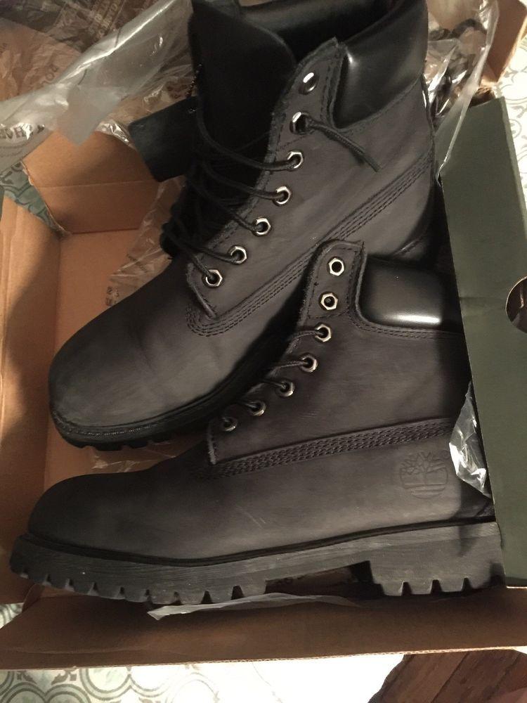 black timberland boots size 8 #fashion