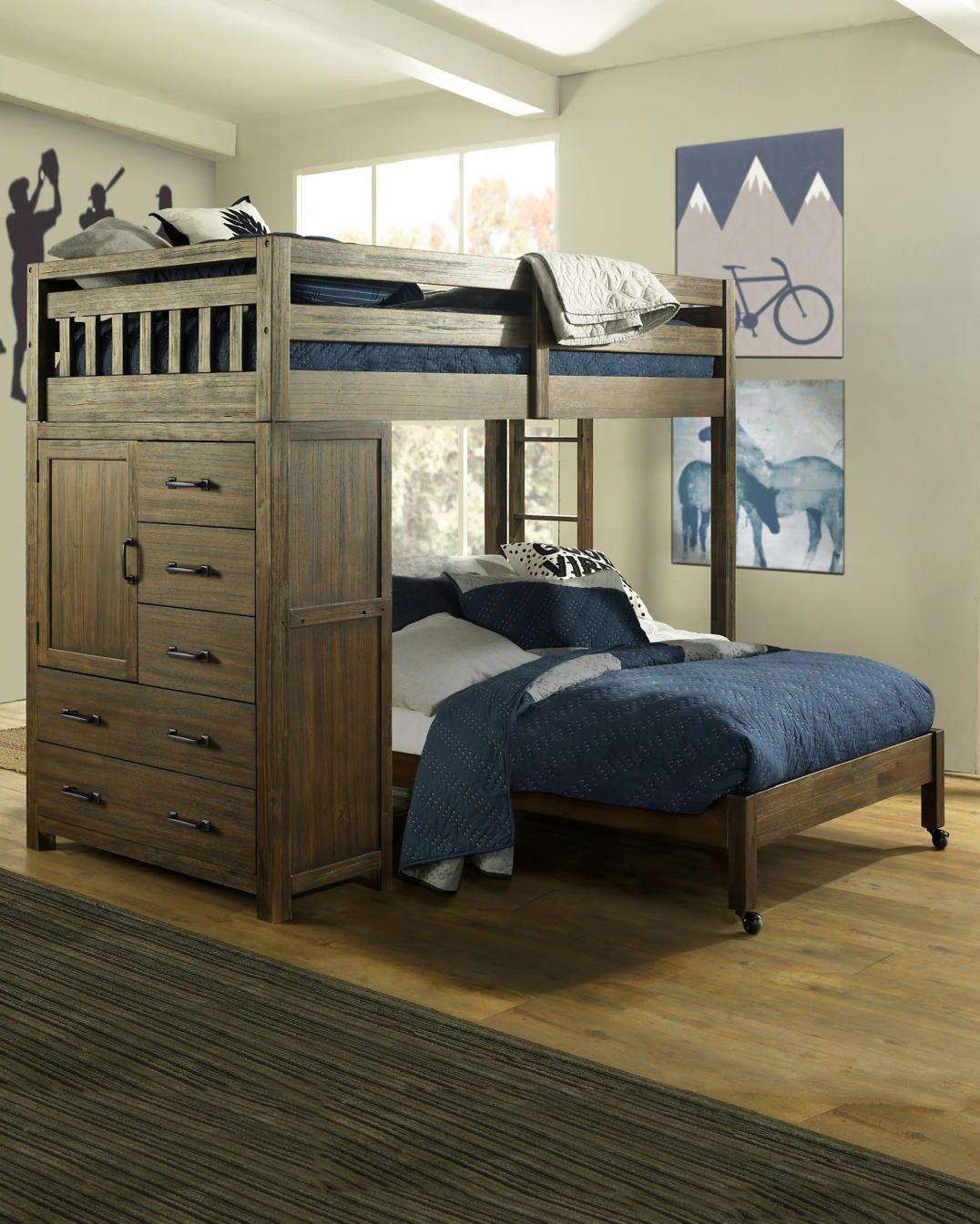 Cheyenne Twin Over Full Loft Bed in 2020 Modern loft bed