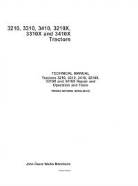 repair manual john deere 3210 3310 3410 3210x 3310x 3410x tractors