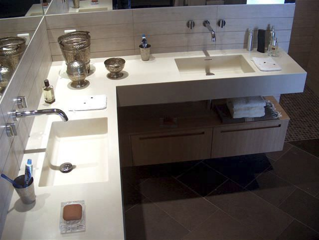 Corian Bathroom Vanity Tops Wall Mounted Bathroom Vanity Units B Custom B And Q Bathroom Design Inspiration Design