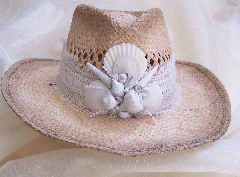 Beach Hat Ladies Hats Shell Hat Beach Wedding Hat Sun