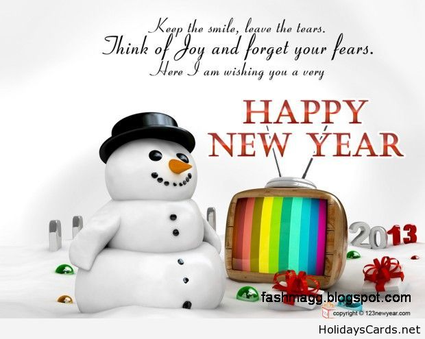 Happy new year card with a snowman | Happy New Year | Pinterest ...