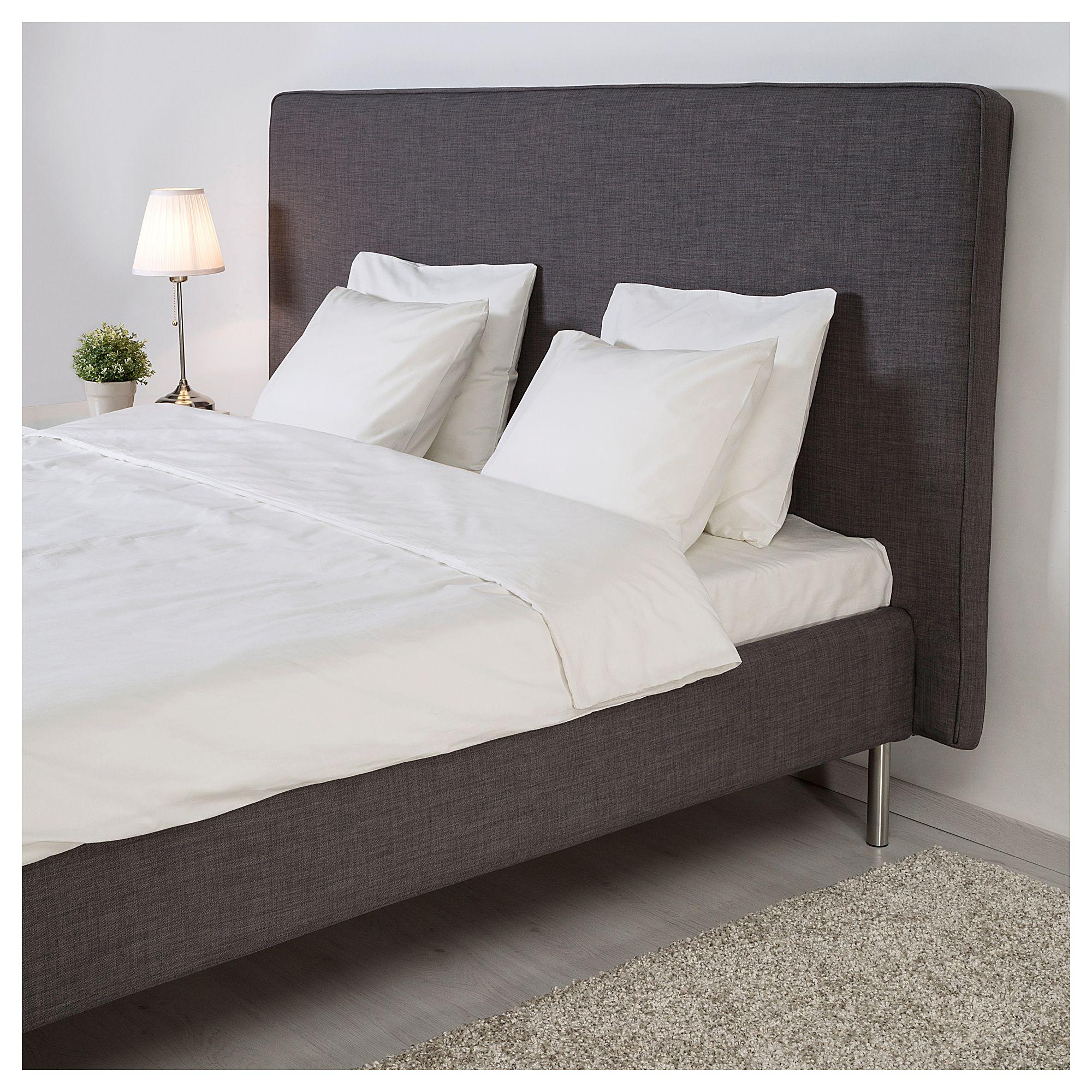 Skulsfjord Bed Frame Dark Gray Luroy Queen Bed Frame Grey