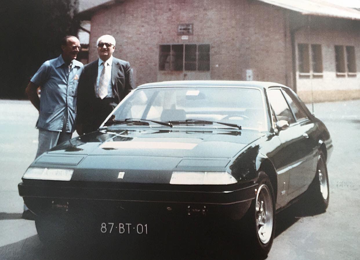 Ferrari 400 enzo ferrari and prince bernhard stand by the princes gt4 2