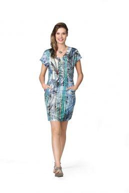Kurzkleid Modee Dress Tropical print and colours