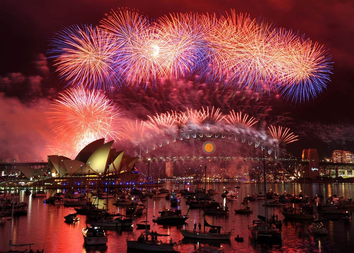 I will spend a New Year's eve in Sydney, Australia and