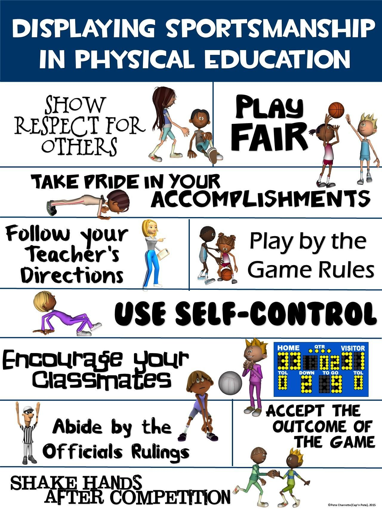 Pe Poster Displaying Sportsmanship In Physical Education