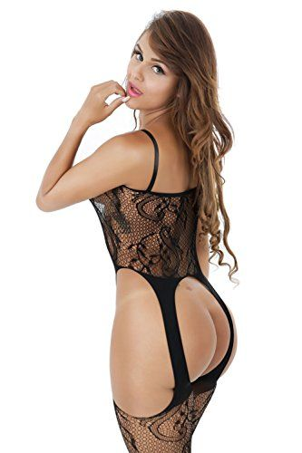 3438a2f814 UStory Womens Stretch Fishnet Bodystocking Open Crotch Bodysuit Tights  Underwear     Continue to the product at the image link.