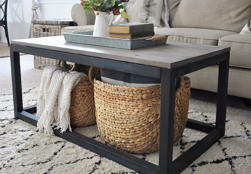 Industrial Farmhouse Coffee Table Free Plans Coffee Table Plans