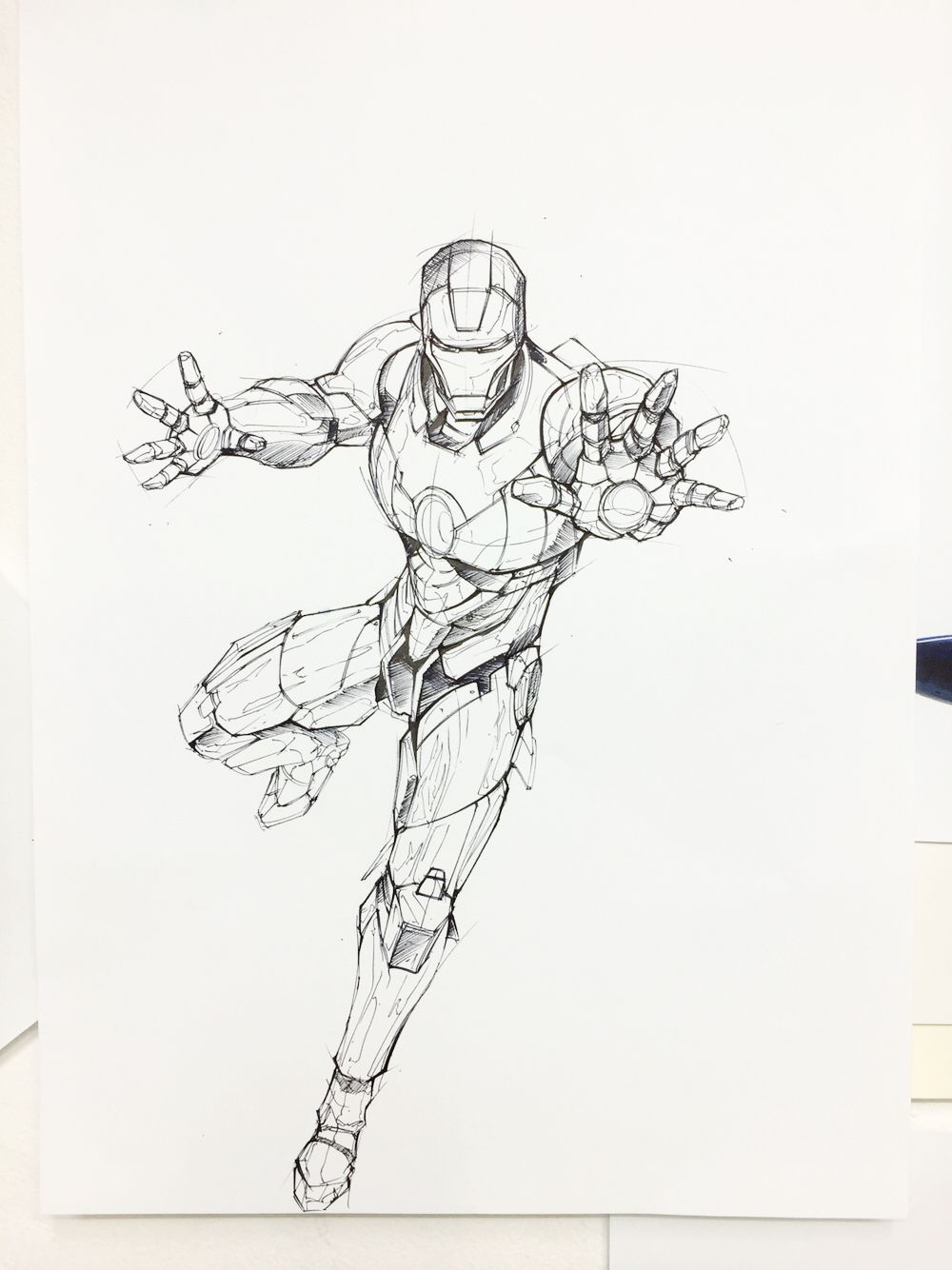 Ironman Rough Sketch 2 On Behance Industrial Design Sketches In