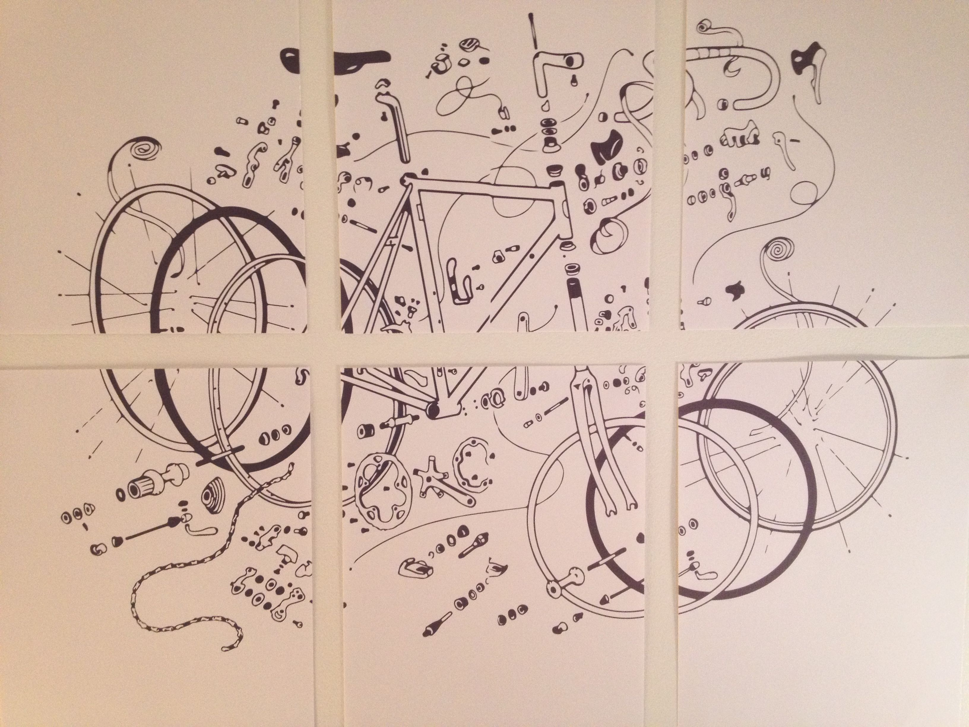 Exploded Road Bike Illustration Poster From Zinn And The Art Of
