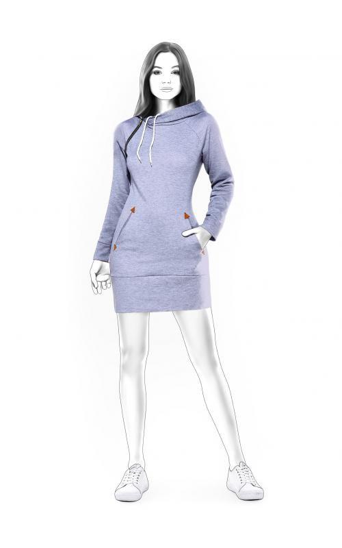 e6da07410c4c54 MAATPATRONEN. Sportieve jurk patroon. Tricot patroon. Patroon op maat. MODEL  N4587