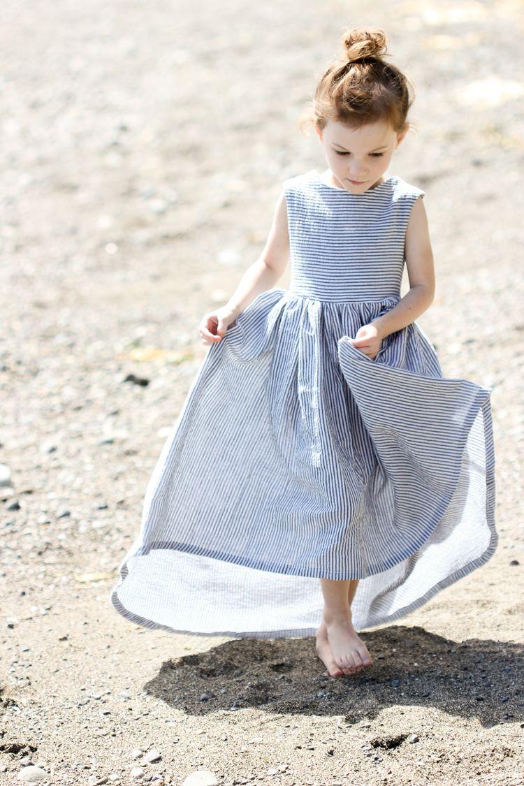 Leather and seer sucker sundress liacreates girls
