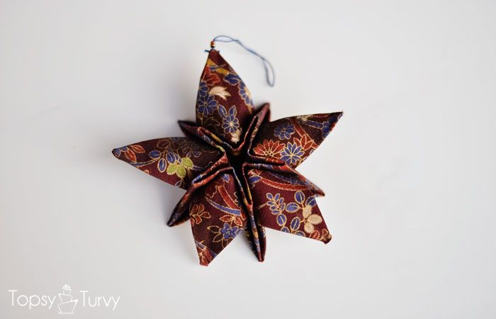 Photo of Fabric Origami Christmas Star Ornaments   Ashlee Marie