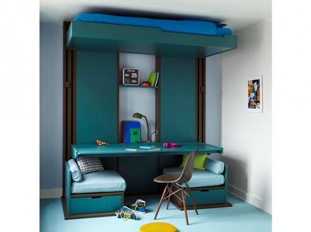 Décoration Chambre DArt Lit Au Plafond Bureau Salon Pièces En - Canapé 3 places pour decoration chambre fille adulte