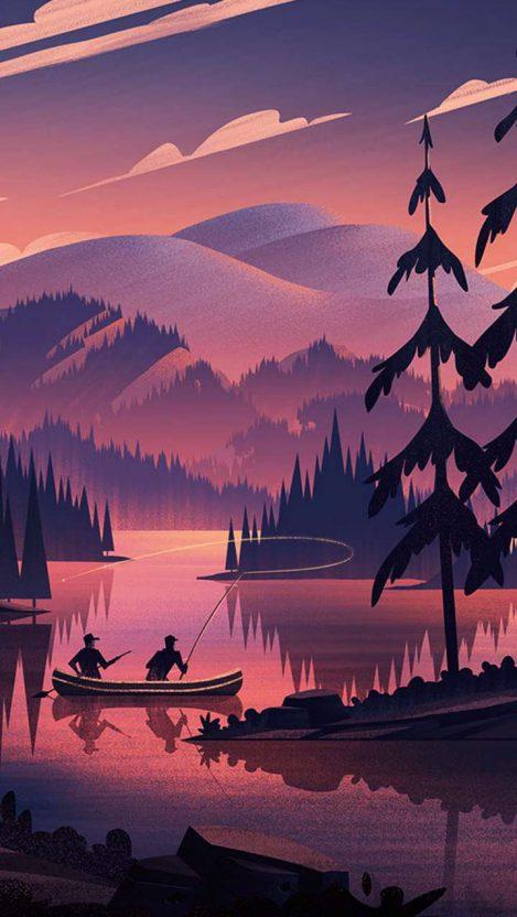 Forest Fishing iPhone Wallpaper Free GetintoPik