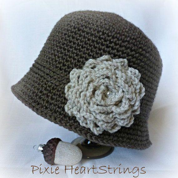 Sombrero. Sombrero de mujer. Cloche. Sombrero de ganchillo. Sombrero ...
