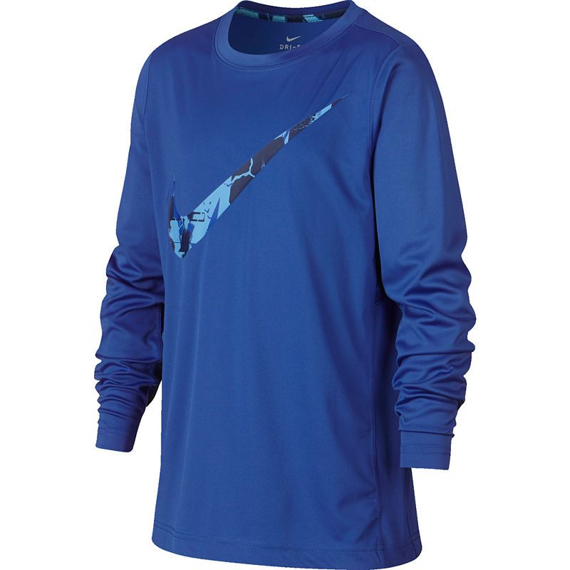 e20d20be Nike Long Sleeve Crew Neck T-Shirt-Big Kid Boys | Products ...