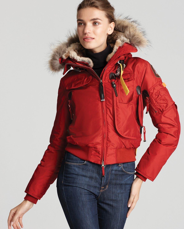Parajumpers Gobi Down Bomber Jacket With Fur Hood Bloomingdale S Fur Hood Jacket Jackets Outwear Women [ 1500 x 1200 Pixel ]