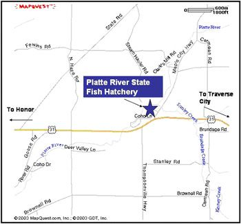 Map Of Platte River State Fish Hatchery Location I 3