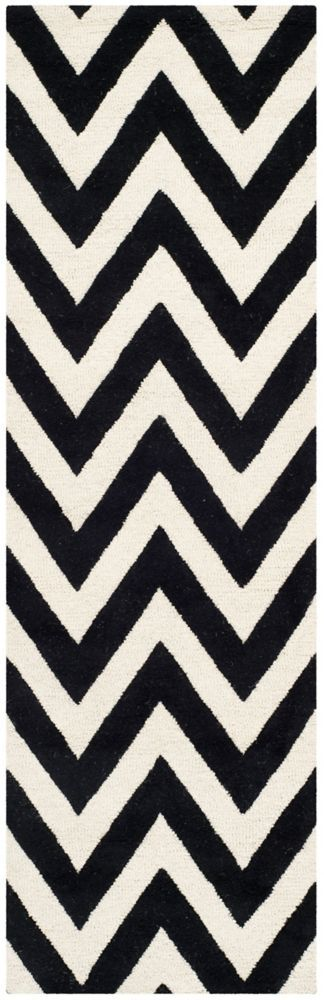 Cambridge Caroline Black Ivory 2 Ft 6 Inch X 12 Ft Indoor Runner In 2020 Area Rugs Rugs Wool Area Rugs