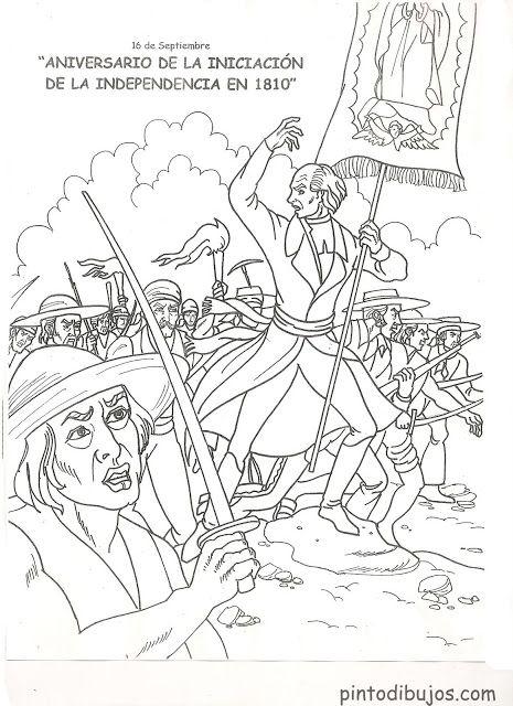 Independencia de m xico 16 de septiembre para colorear for 16 de septiembre coloring pages